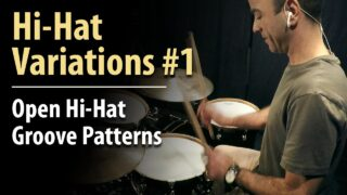 open hi-hat, open hi-hats, open notes, hi-hat lesson, hi-hat grooves, hi-hats, open hi-hat lesson, hihats, hihat, beginner drum lesson, drum lesson, hihat beats, easy beats, drum beats, funk beats