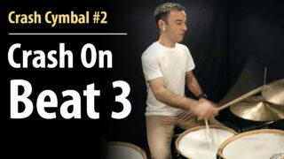 crash cymbal, crash, crashes, crash lesson, crash cymbal course, beginner drum lessons, crash lesson, grooves, crash cymbal lesson, drum lesson
