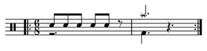 6/8 time, 6/8 drums, 6/8 drum lesson, 6/8 fills, beginner drum lesson, easy drum lesson