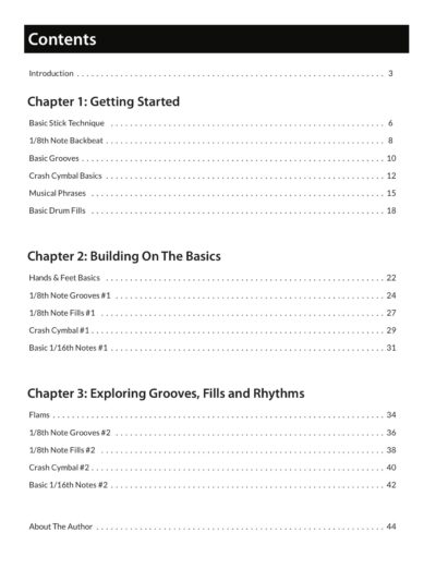 simpledrummer book, beginner drumming book, drum book, book for beginner drums, drums for beginners, basic drums, basic drumming, learn to play drums book