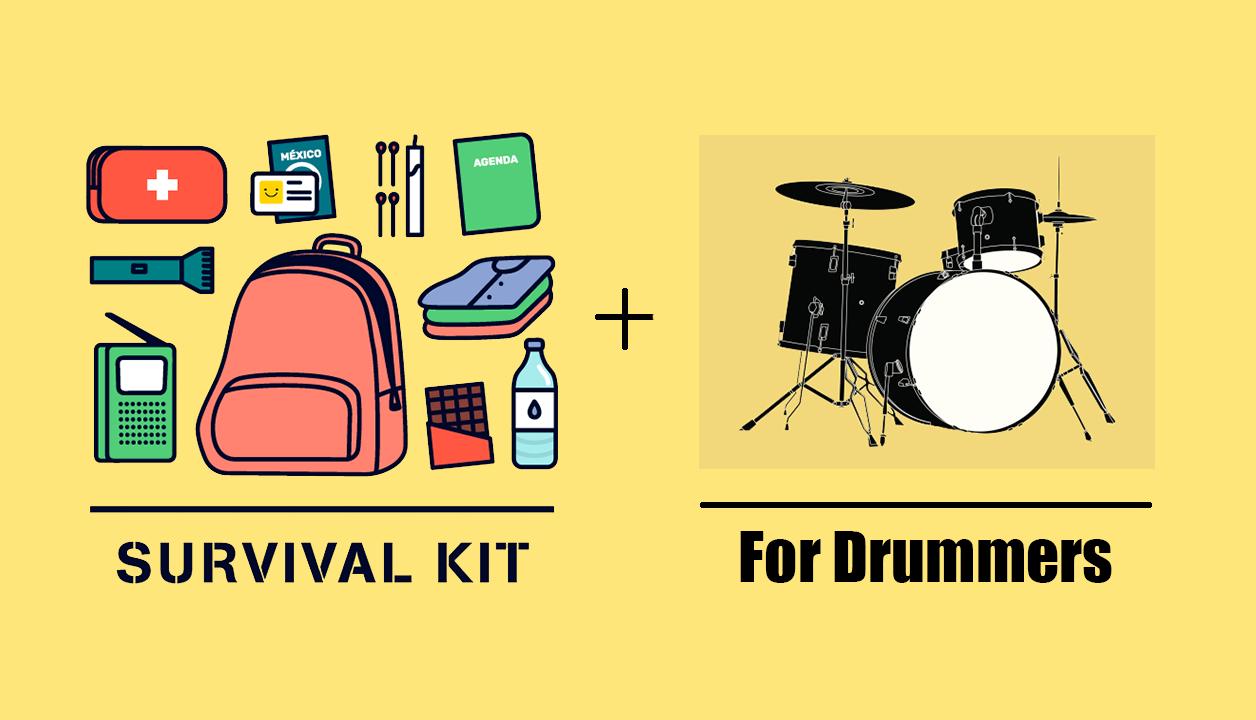 Survival Kit For Drummers, blog, drum hardware, survival kit for drummers, survival kit, drum hacks, survival bag, back-ups bag, extra hardware, prepare for gig, how to get a gig, getting gigs drummer, drummer advice, moongels, cymbal felts, wingnuts, advice for gigs, drummer wisdom